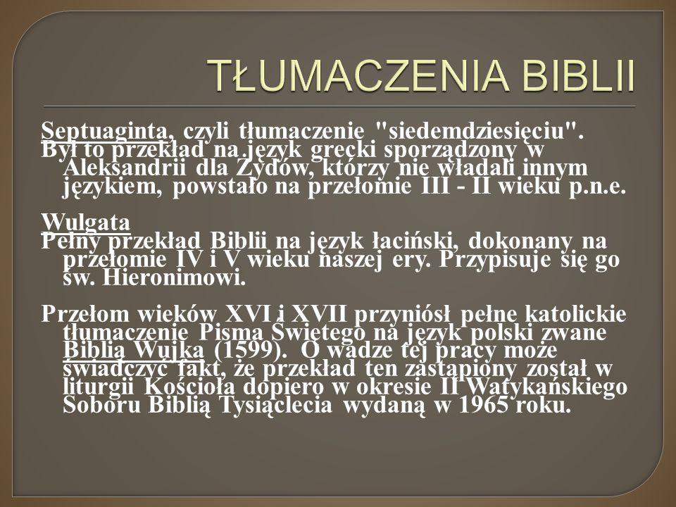 Septuaginta, czyli tłumaczenie