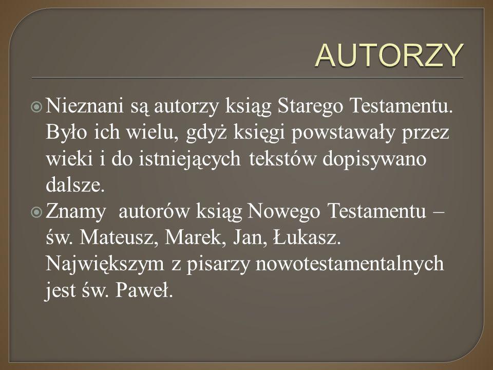 Starego Testamentu  grecki  aramejski  hebrajski Nowego Testamentu  grecki  aramejski (tylko Ewangelia św.