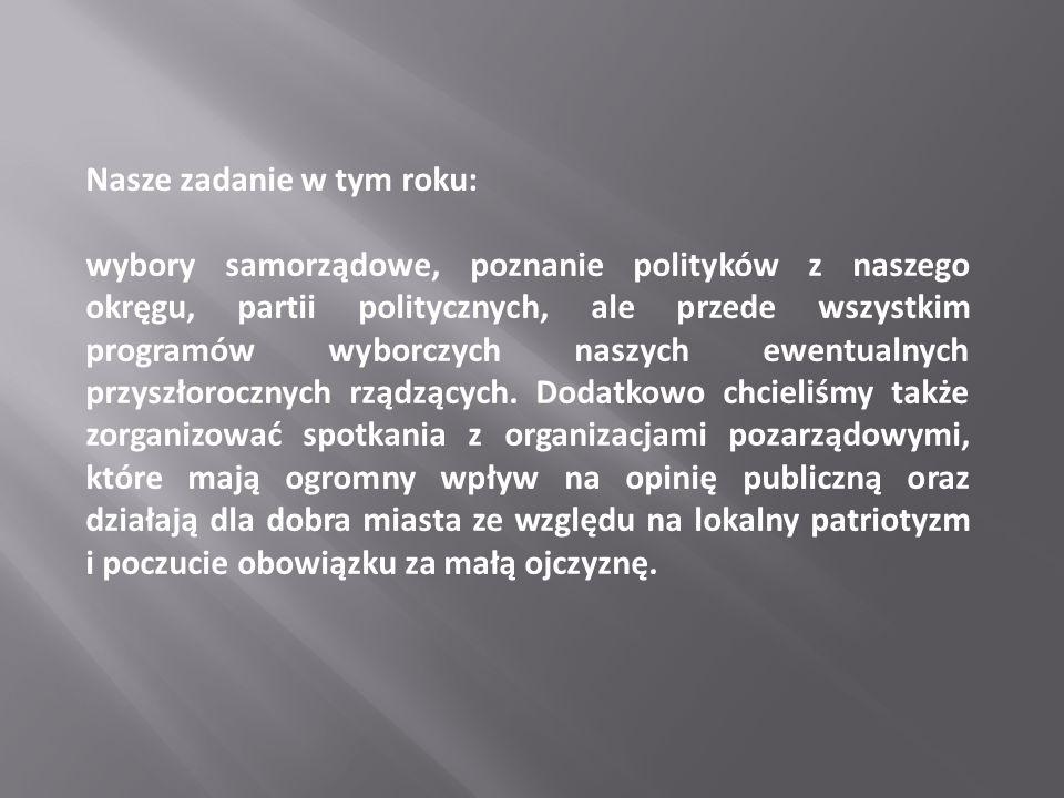 Dlaczego taki wybór: Dla nas to ważne kto nas reprezentuje, a prezydent to przecież GŁOWA PAŃSTWA, a co dla nas najważniejsze STRAŻNIK KONSTYTUCJI, nadrzędnego dla nas wszystkich prawa w Polsce.