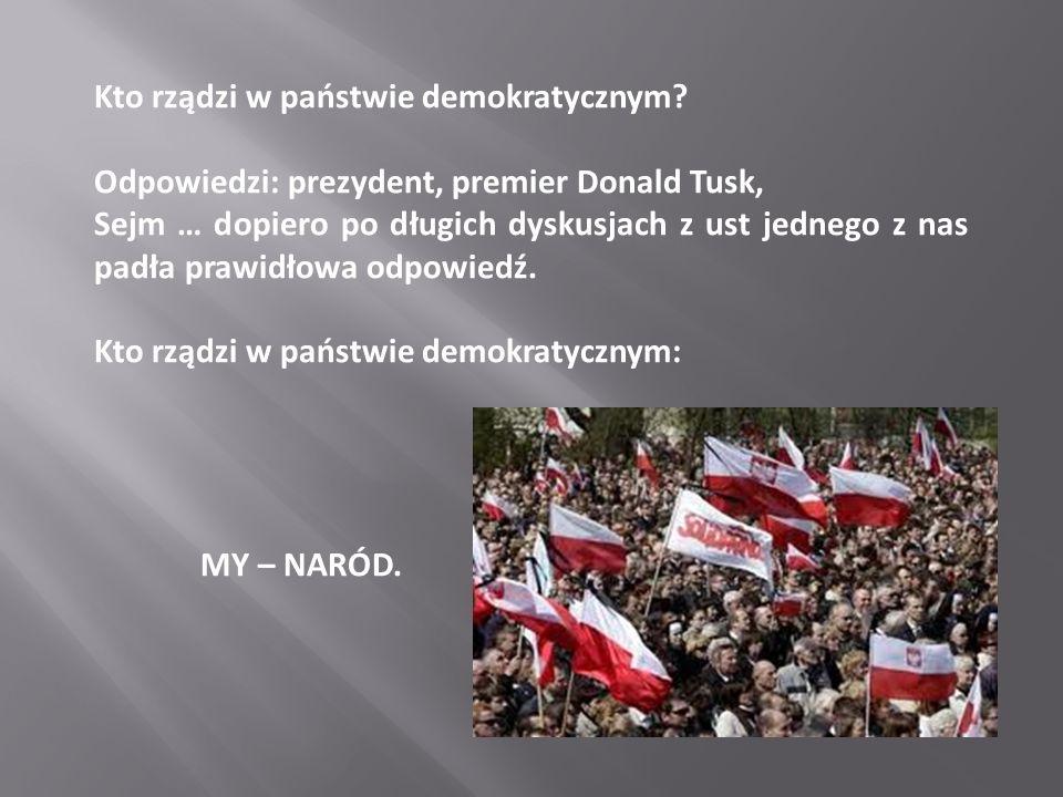 Kto rządzi w państwie demokratycznym.
