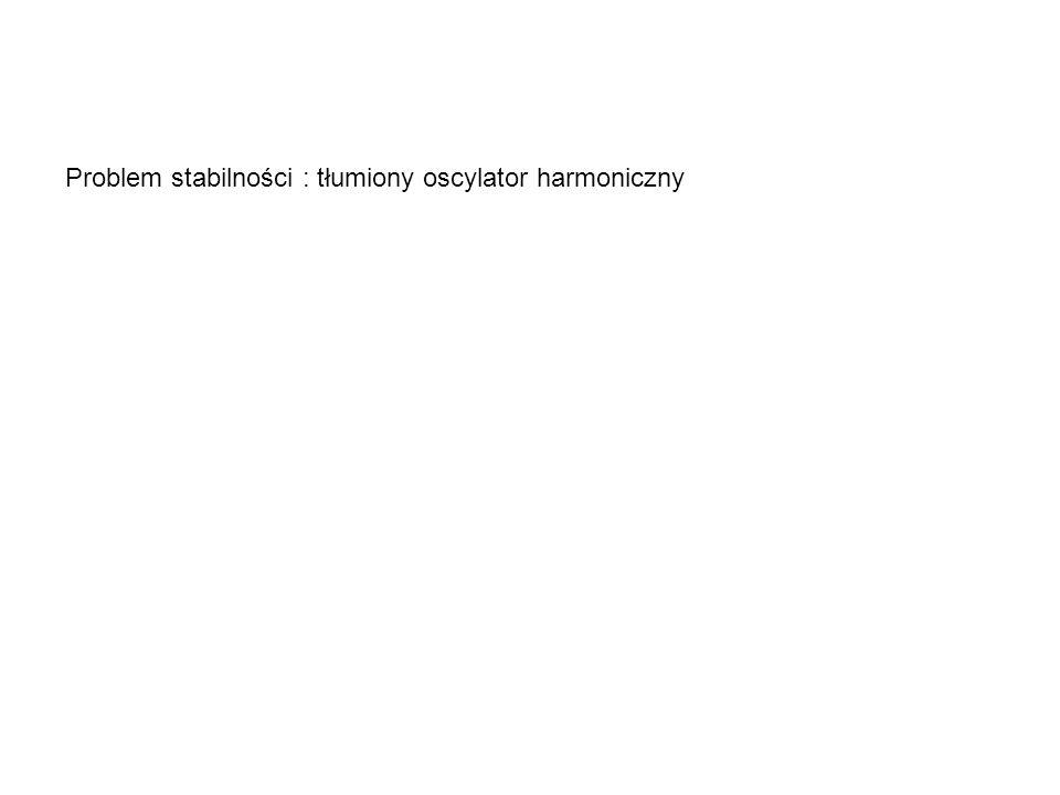 Problem stabilności : tłumiony oscylator harmoniczny