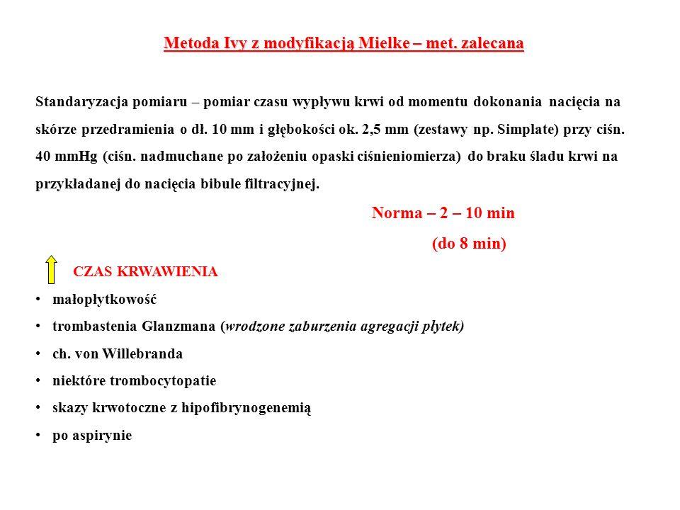 Metoda Ivy z modyfikacją Mielke – met.