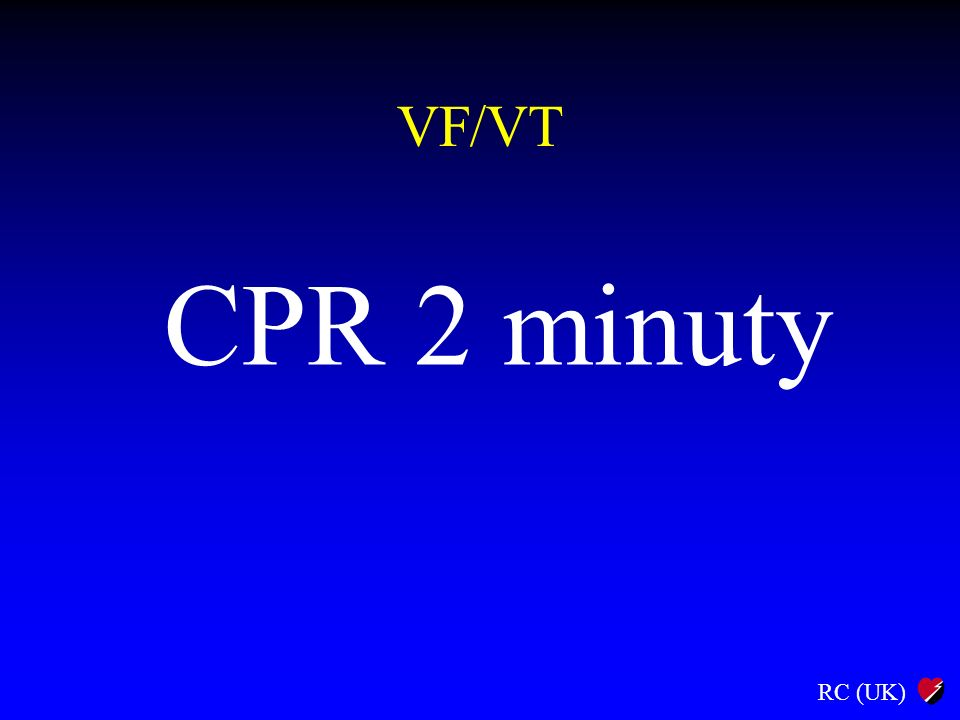 RC (UK) VF/VT CPR 2 minuty