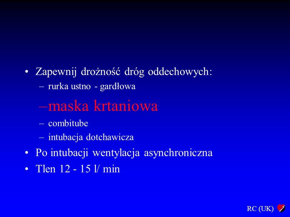 RC (UK) Farmakoterapia Adrenalina 1 mg i.v.