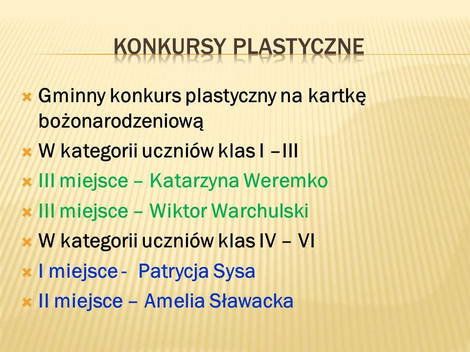 """ Martyna Łusiak – Laureatka XI Powiatowego Spotkania z Kolędą """"Pójdźmy wszyscy do stajenki"""" w kategorii soliści. Wyróżnienie szczególne na II powiato"""
