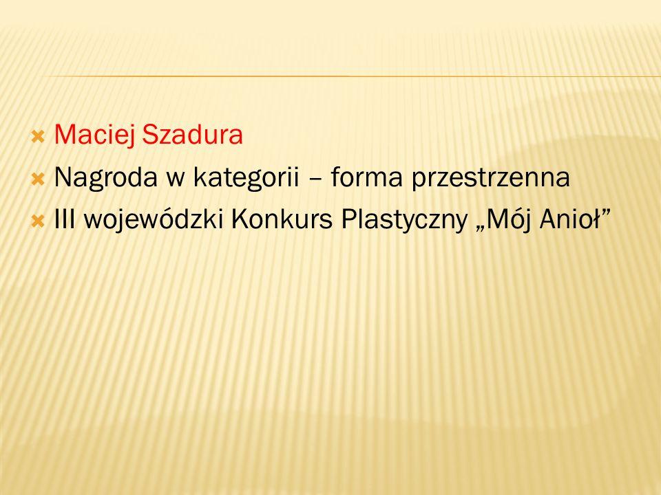  Gminny konkurs plastyczny na kartkę bożonarodzeniową  W kategorii uczniów klas I –III  III miejsce – Katarzyna Weremko  III miejsce – Wiktor Warc