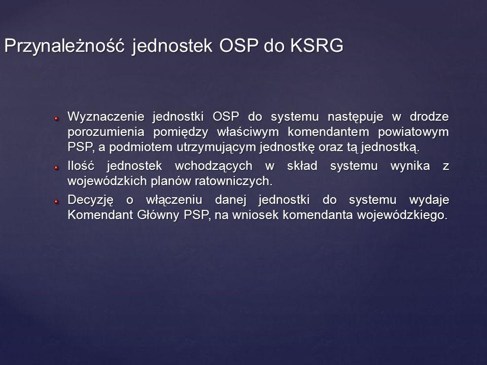 Wyznaczenie jednostki OSP do systemu następuje w drodze porozumienia pomiędzy właściwym komendantem powiatowym PSP, a podmiotem utrzymującym jednostkę