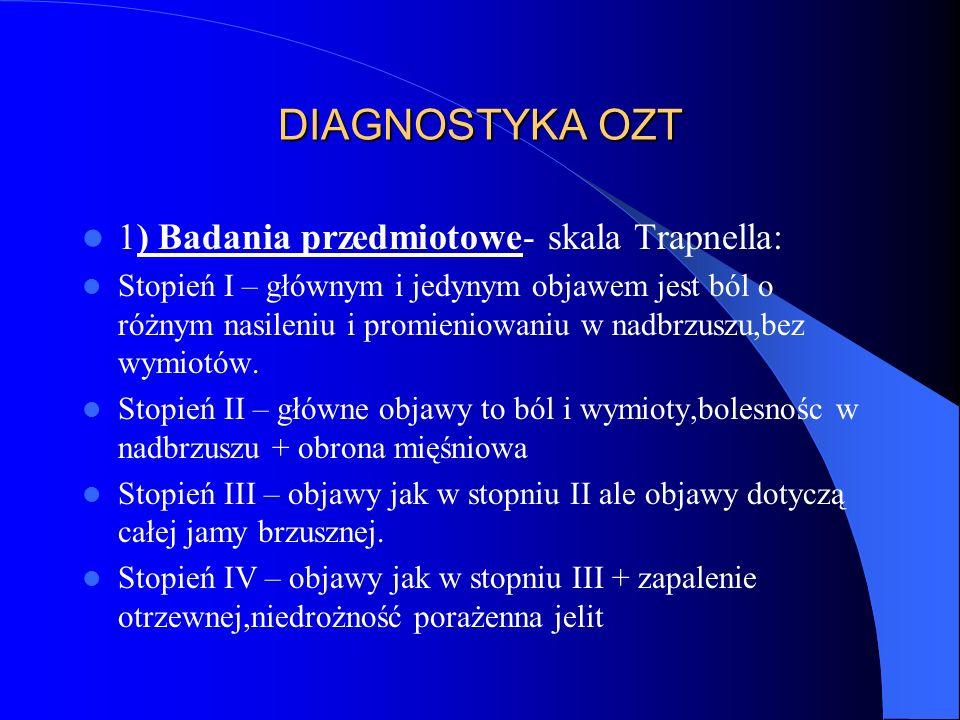 DIAGNOSTYKA OZT- cd.