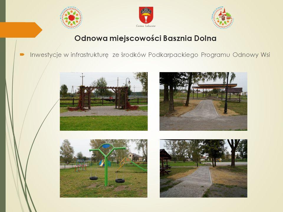  Inwestycje w infrastrukturę ze środków Podkarpackiego Programu Odnowy Wsi Odnowa miejscowości Basznia Dolna