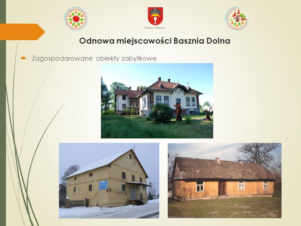  Zagospodarowane obiekty zabytkowe Odnowa miejscowości Basznia Dolna