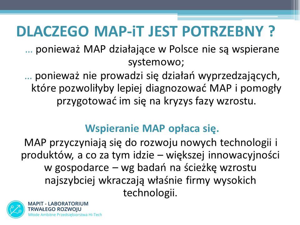 DLACZEGO MAP-iT JEST POTRZEBNY ? … ponieważ MAP działające w Polsce nie są wspierane systemowo; … ponieważ nie prowadzi się działań wyprzedzających, k