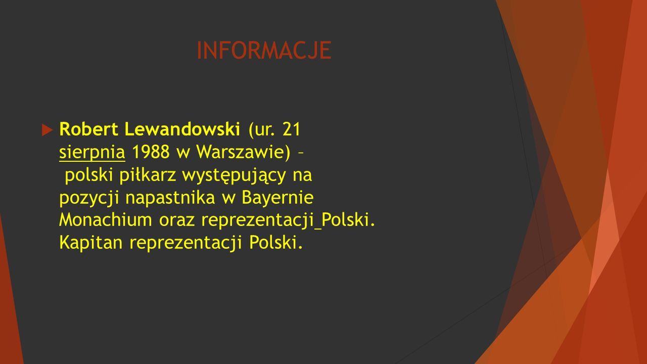 INFORMACJE  Robert Lewandowski (ur.