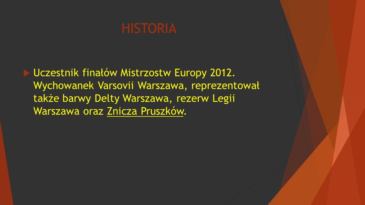 HISTORIA  Uczestnik finałów Mistrzostw Europy 2012.