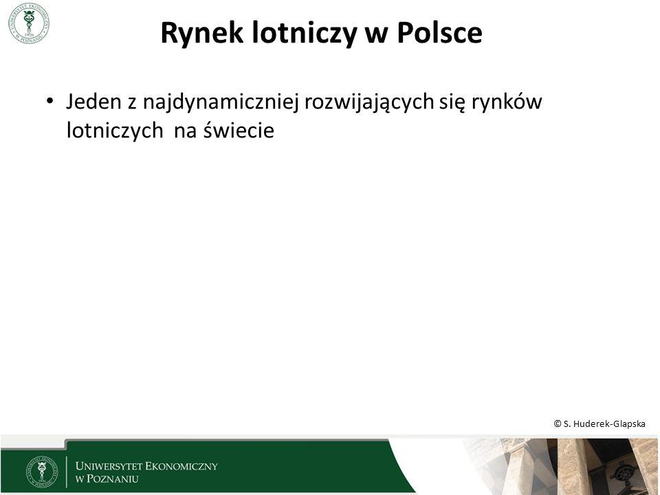 © S. Huderek-Glapska Rynek lotniczy w Polsce Jeden z najdynamiczniej rozwijających się rynków lotniczych na świecie