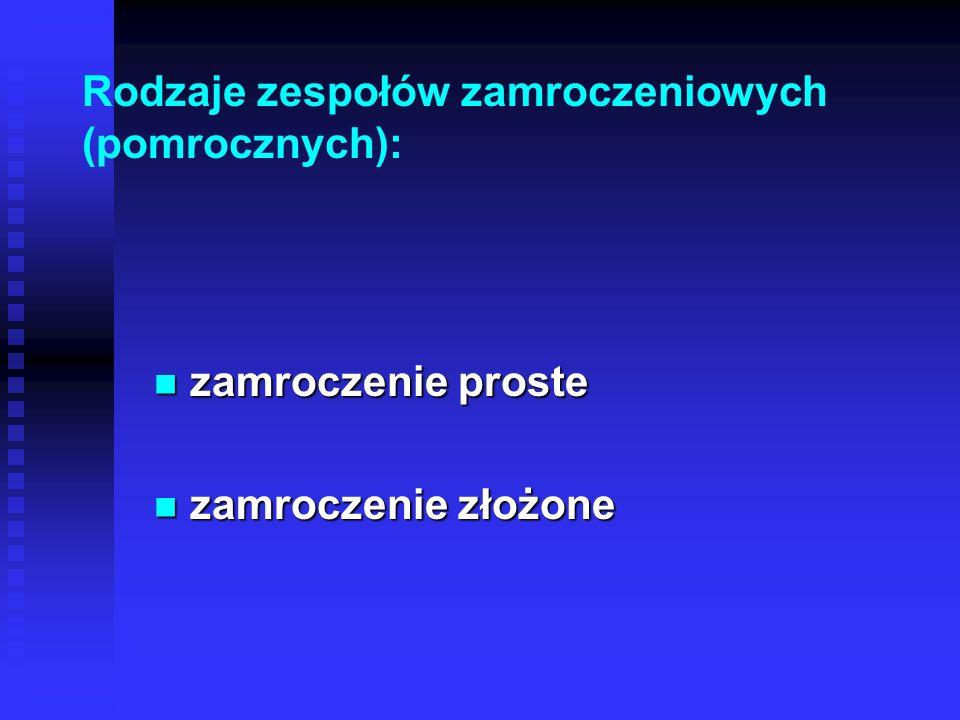 Rodzaje zespołów zamroczeniowych (pomrocznych): zamroczenie proste zamroczenie proste zamroczenie złożone zamroczenie złożone