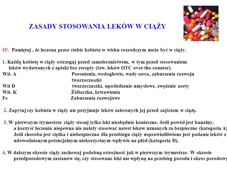 ZASADY STOSOWANIA LEKÓW W CIĄŻY O!.