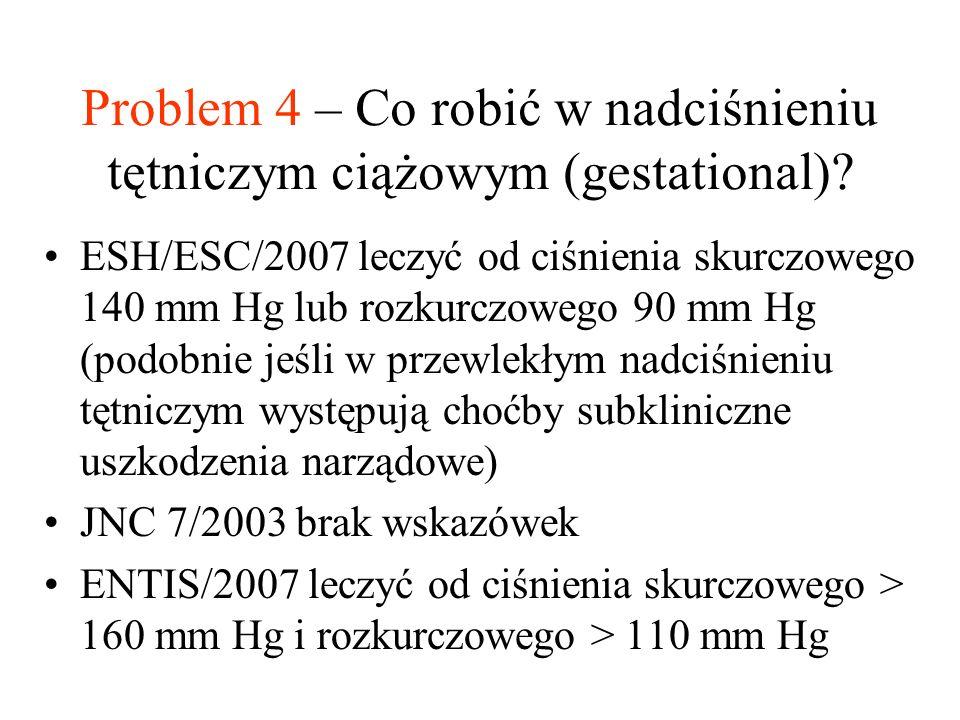 Problem 4 – Co robić w nadciśnieniu tętniczym ciążowym (gestational).