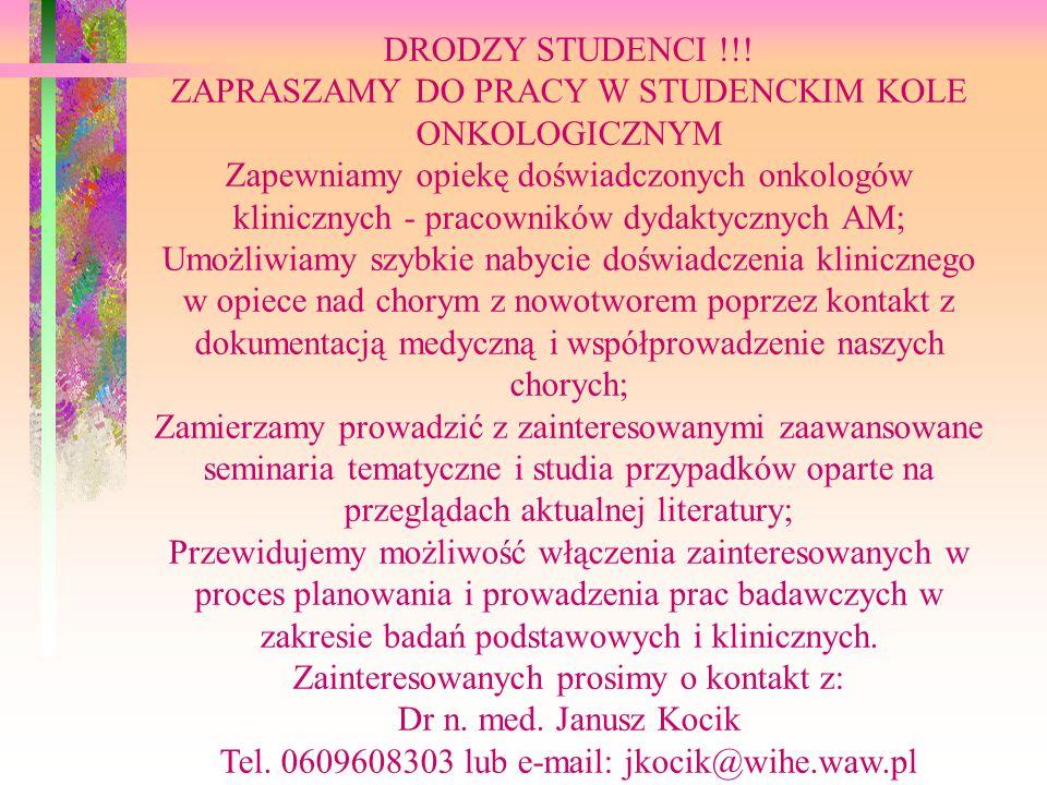 DRODZY STUDENCI !!.