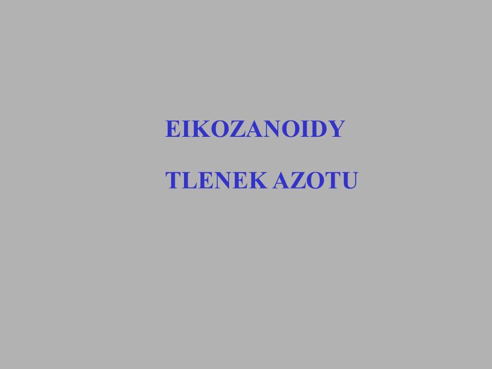 Eikozanoidy Prostaglandyny Thromboksan Leukotrieny Kwas hydroksyeikosatetraenowy (HETE) Kwas epoksyeikosatrienowy (EET) Lipoksyny Isoprostany