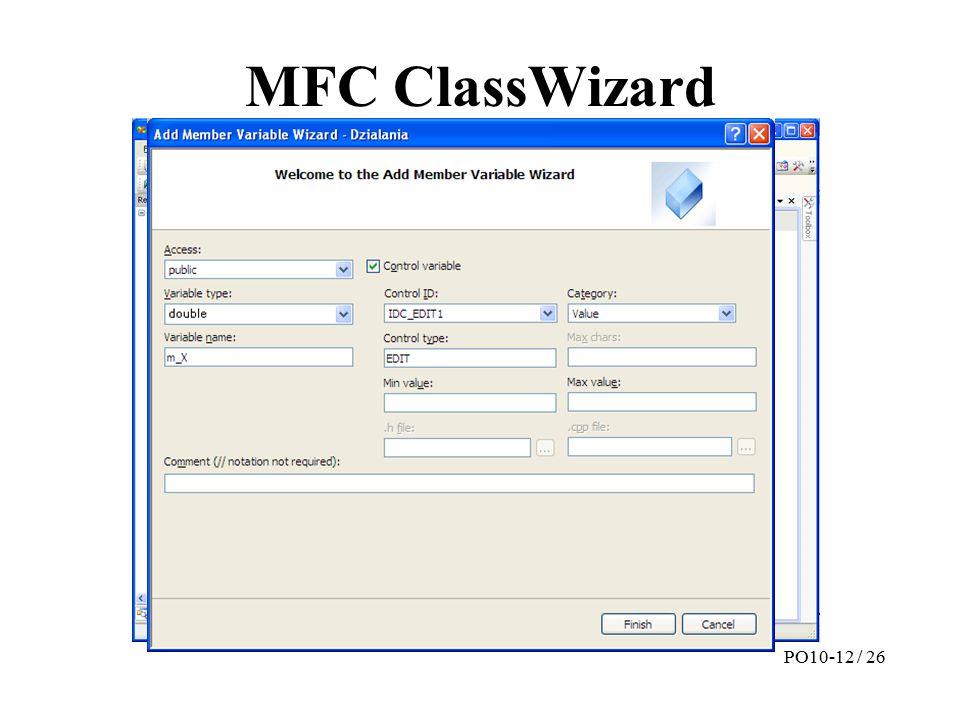 MFC ClassWizard PO10-12 / 26