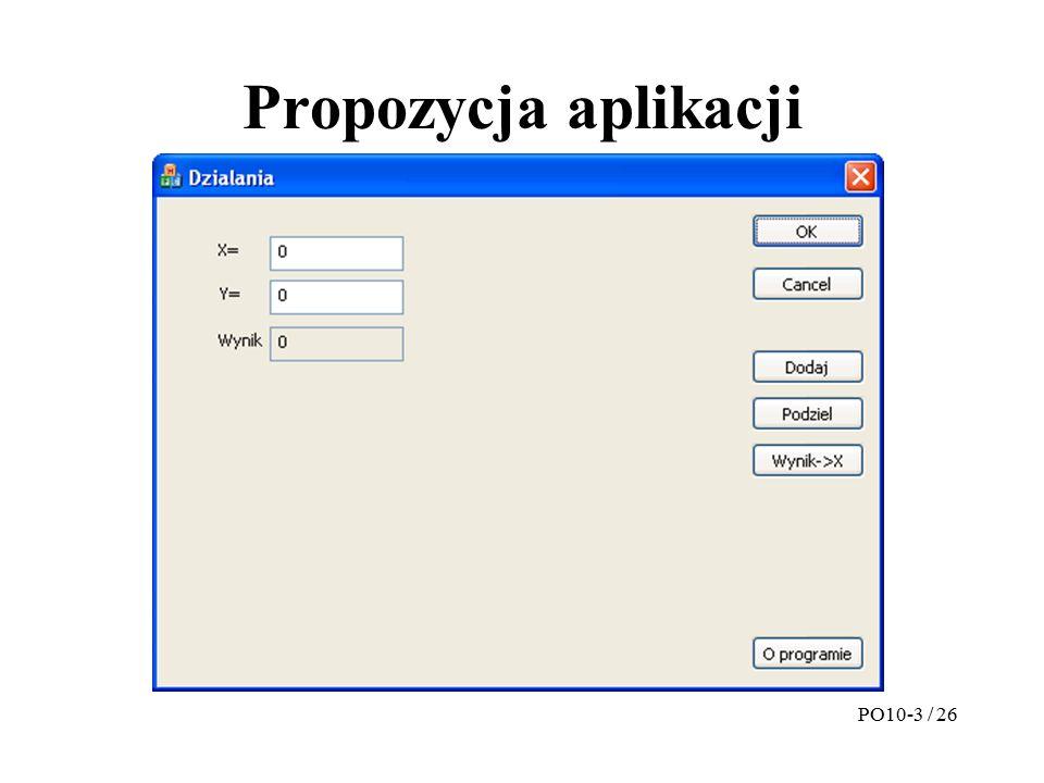 Projekt interfejsu PO10-4 / 26