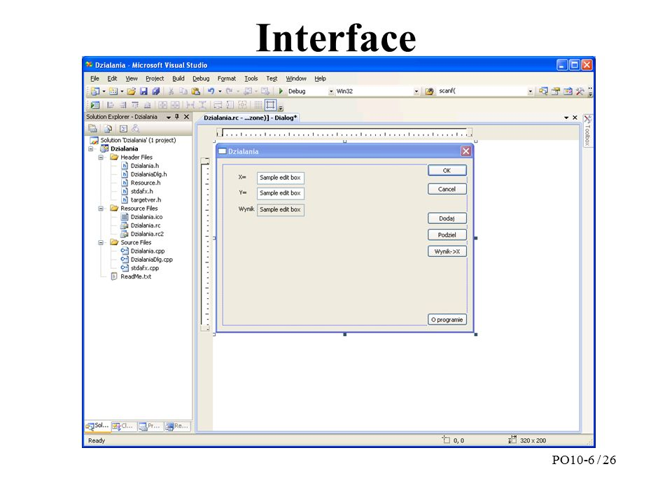 Interface PO10-6 / 26