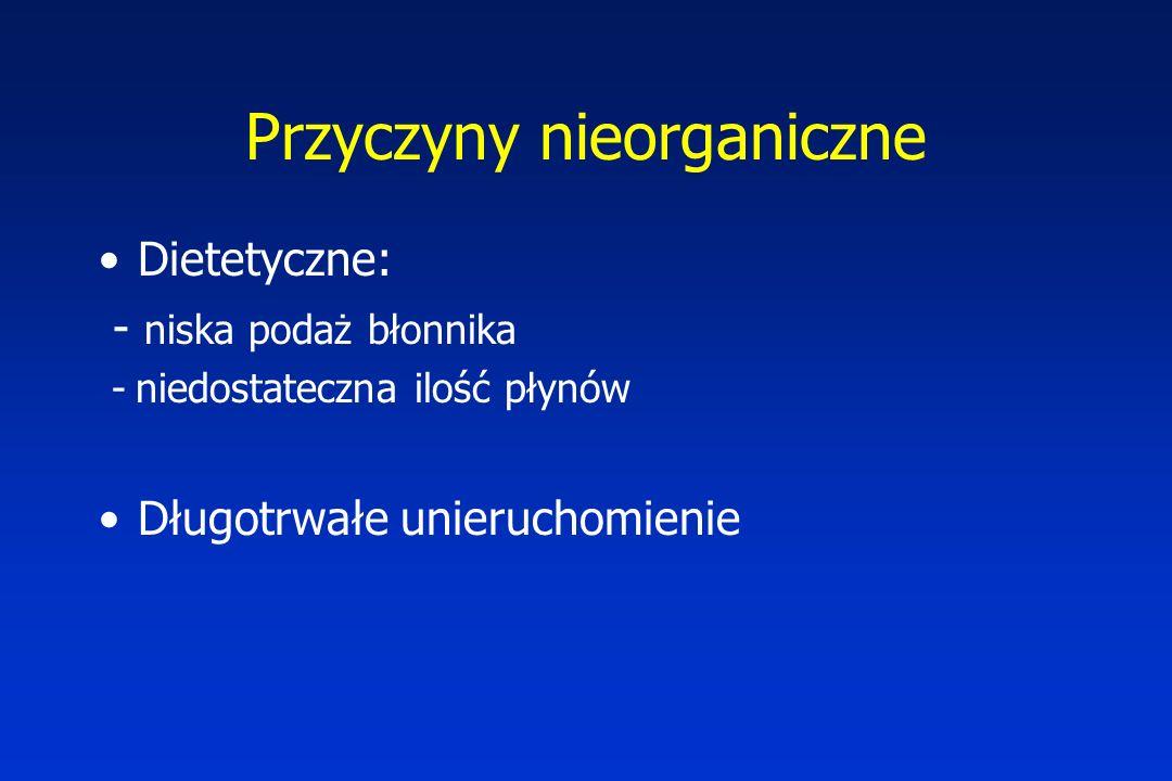 Objawy w każdym wieku: zapalenie jelita: najpoważniejsze powikłanie będące najprawdopodobniej wynikiem niedrożności (powiększenie obwodu brzucha, wzdęcie, gorączka, biegunka, wymioty, letarg, krwawienie z dolnego odcinka przewodu pokarmowego, wstrząs); najczęstsza przyczyna zgonów w chorobie Hirschsprunga