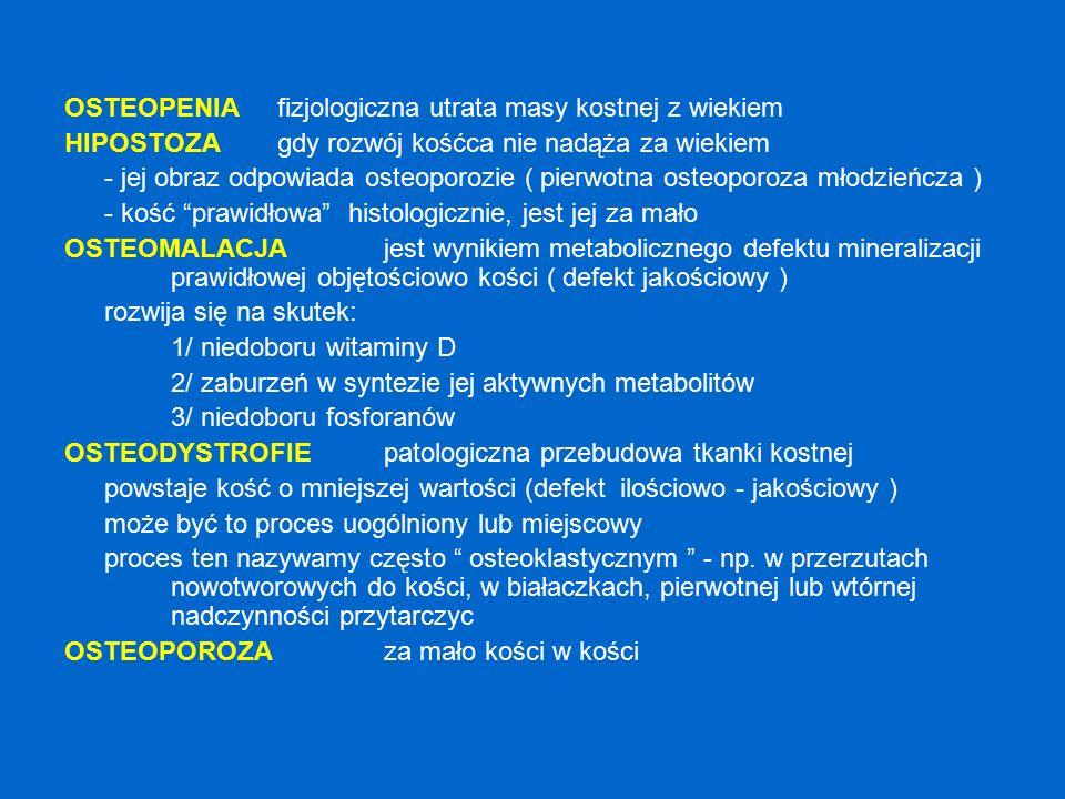 Zanik kostny + złamania patologiczne OSTEOPOROZA / MYELOMA MULTIPLEX .