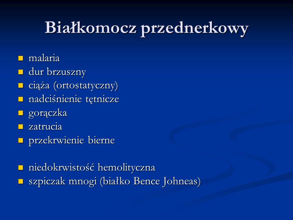 Białkomocz przednerkowy malaria malaria dur brzuszny dur brzuszny ciąża (ortostatyczny) ciąża (ortostatyczny) nadciśnienie tętnicze nadciśnienie tętni