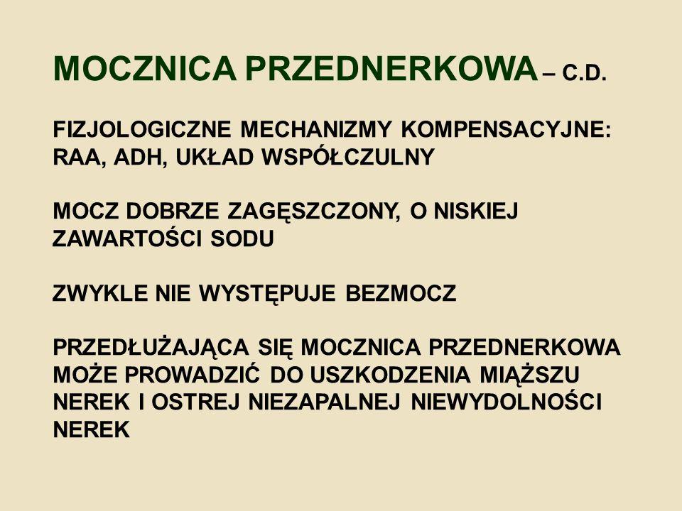 MOCZNICA PRZEDNERKOWA – C.D.