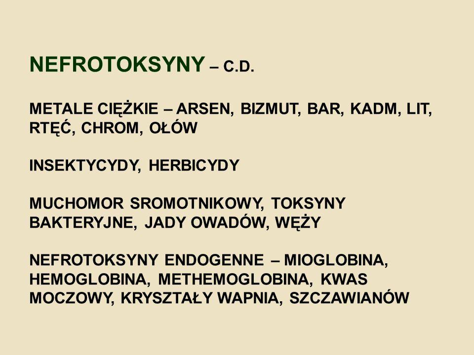 NEFROTOKSYNY – C.D.