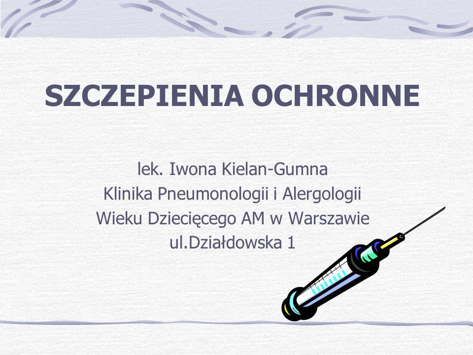 Szczepienie- uodpornienie czynne, sztuczne, polegające na wprowadzaniu do organizmu szczepionki tj.