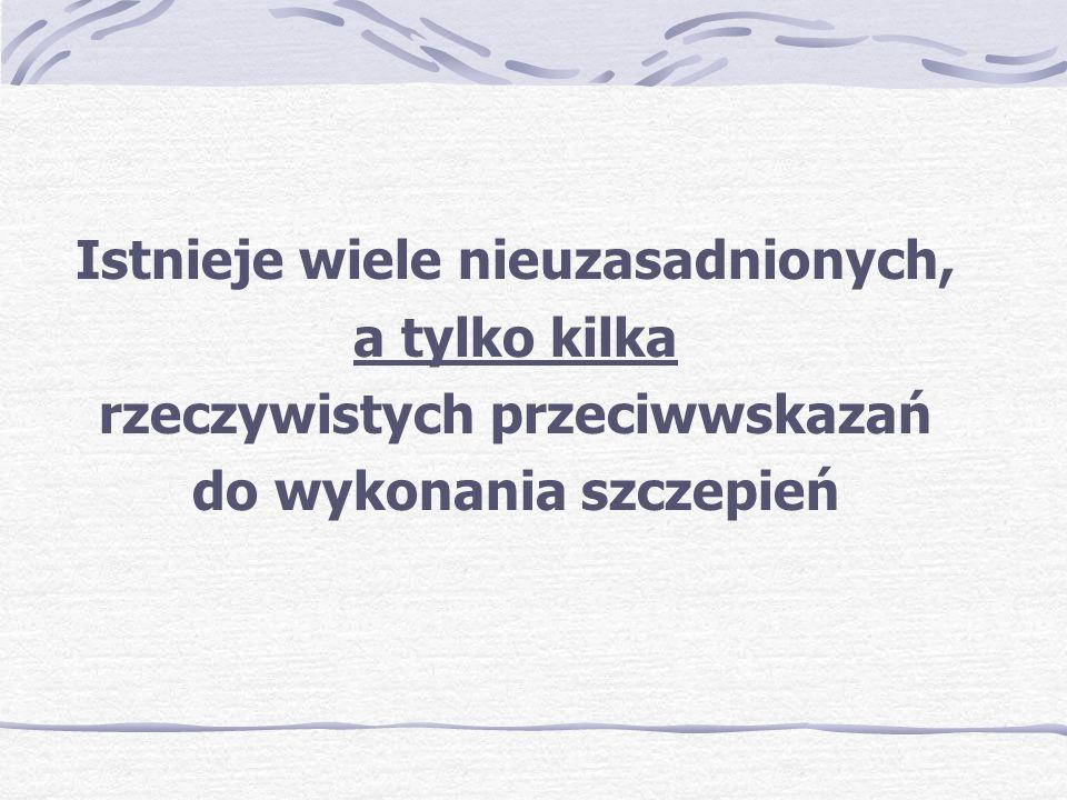 Kalendarz szczepień- c.d.