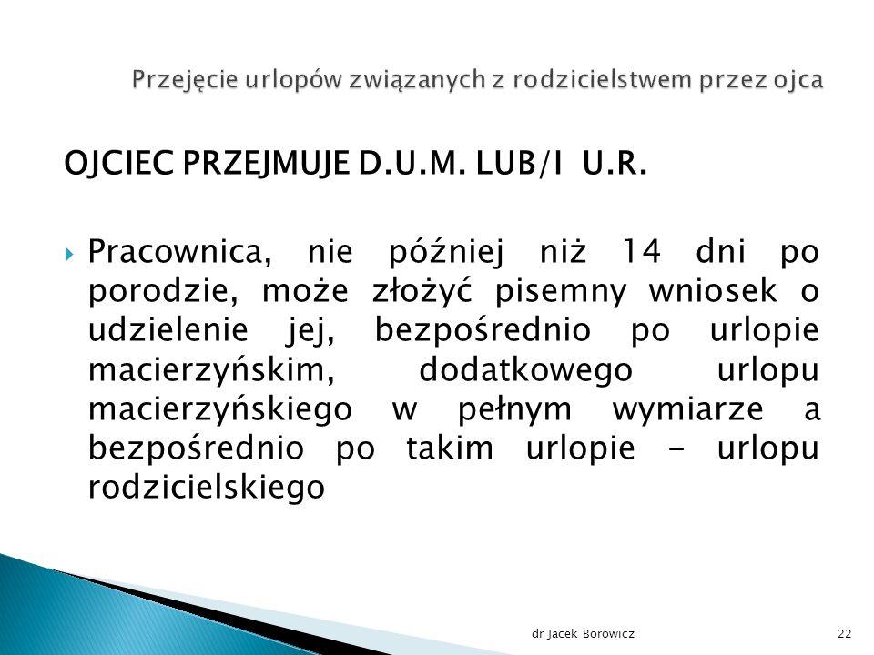 OJCIEC PRZEJMUJE D.U.M. LUB/I U.R.