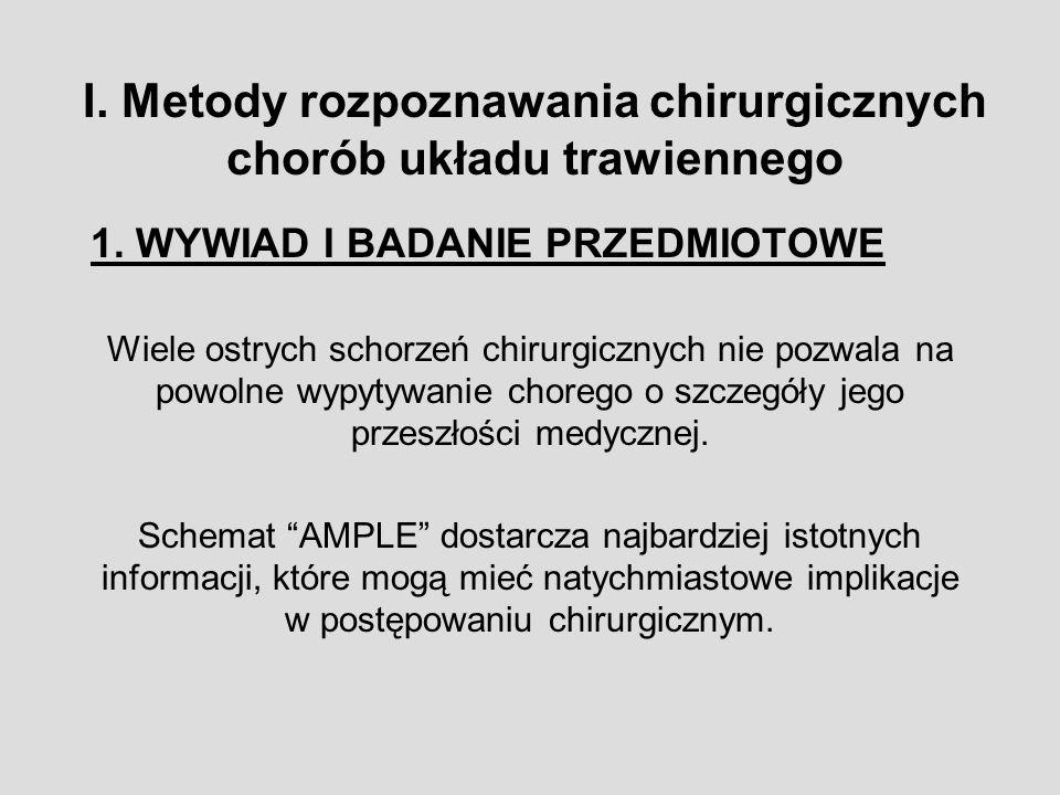 III. Metody badania w chirurgicznych chorobach klatki piersiowej.