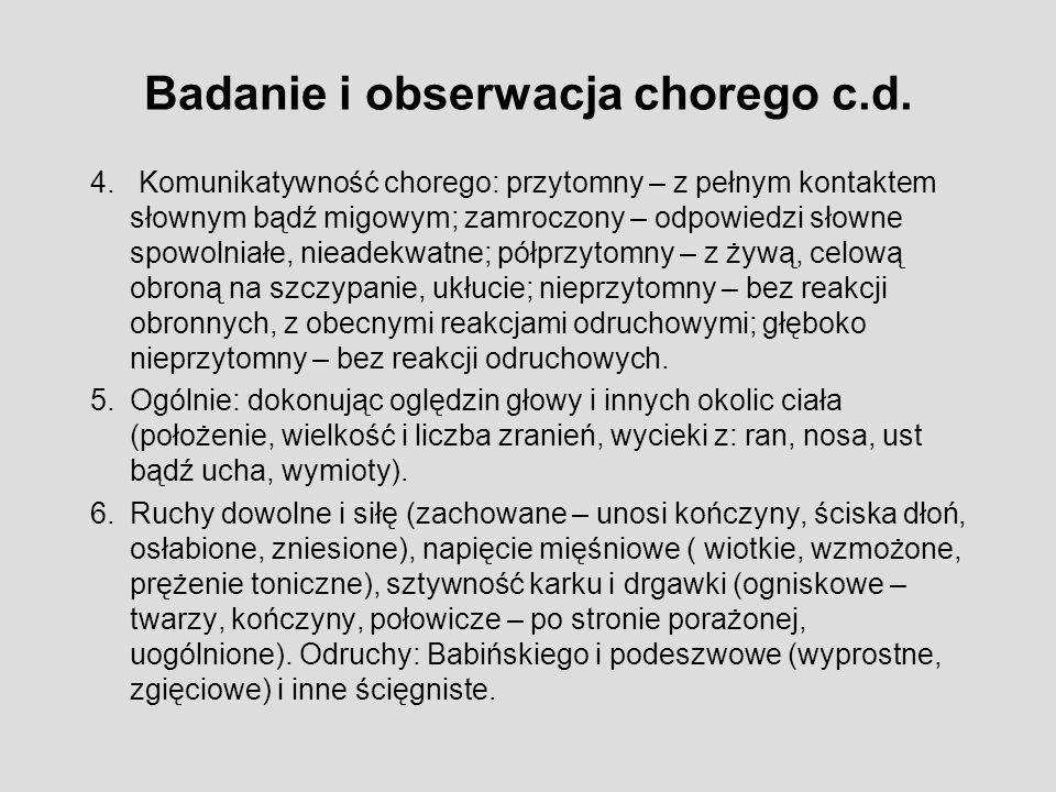 Badanie i obserwacja chorego c.d.4.