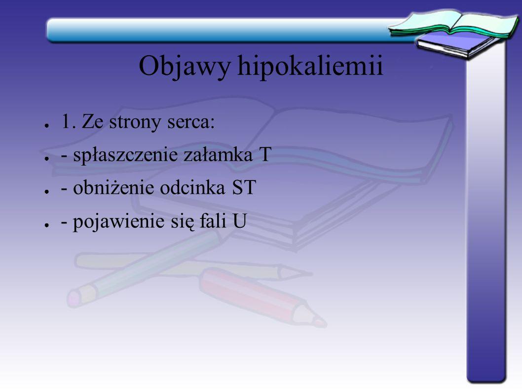 Objawy hipokaliemii ● 2.