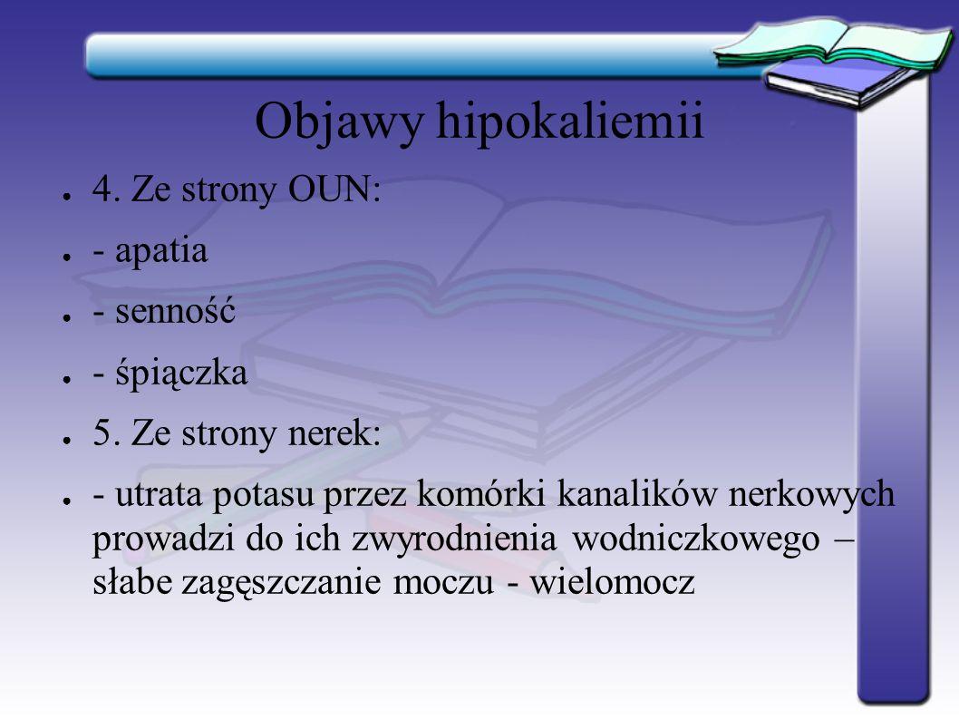 Objawy hipokaliemii ● 6.
