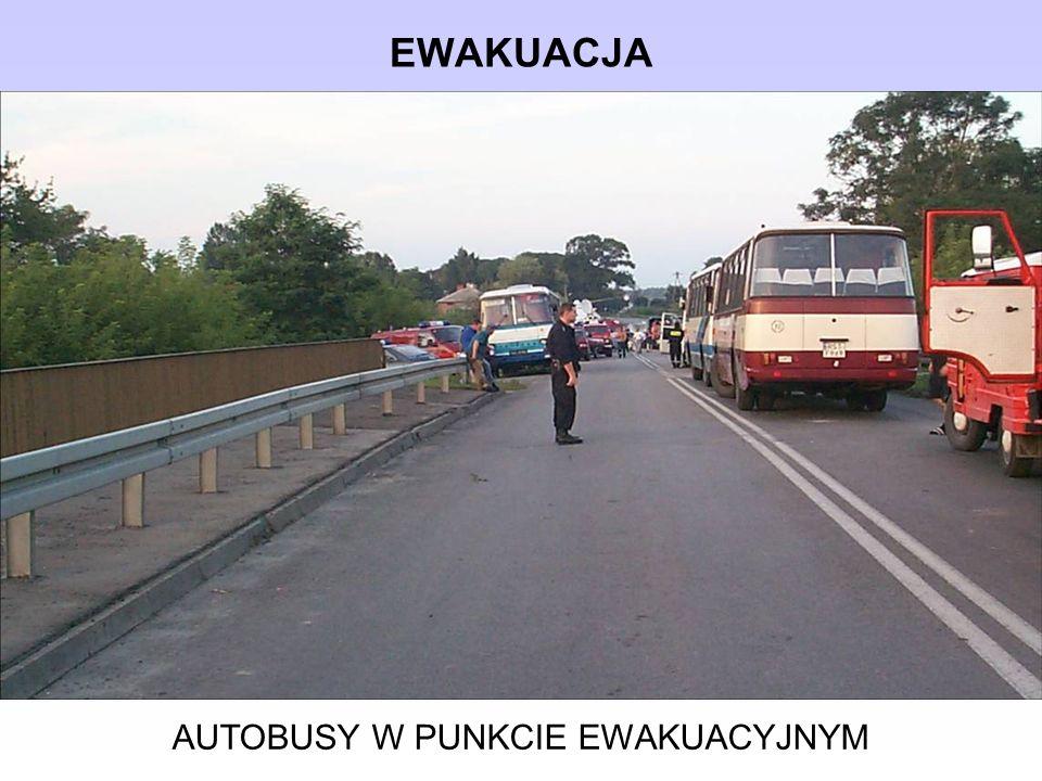EWAKUACJA AUTOBUSY W PUNKCIE EWAKUACYJNYM