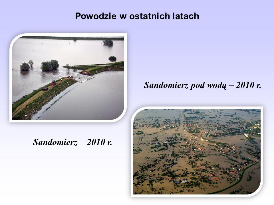Powodzie w ostatnich latach Sandomierz – 2010 r. Sandomierz pod wodą – 2010 r.