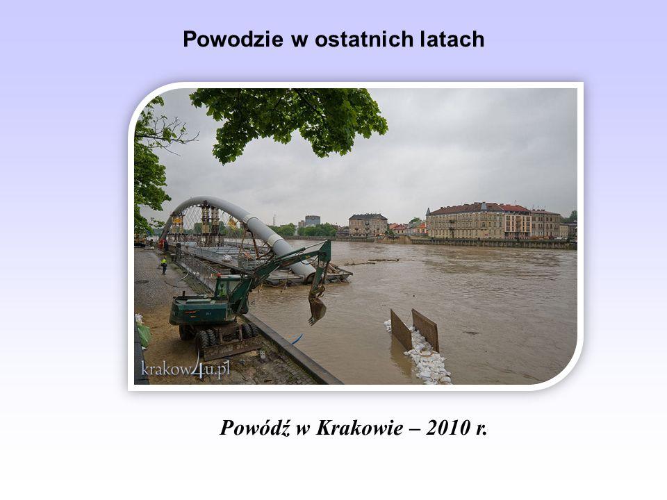 Powodzie w ostatnich latach Powódź w Krakowie – 2010 r.