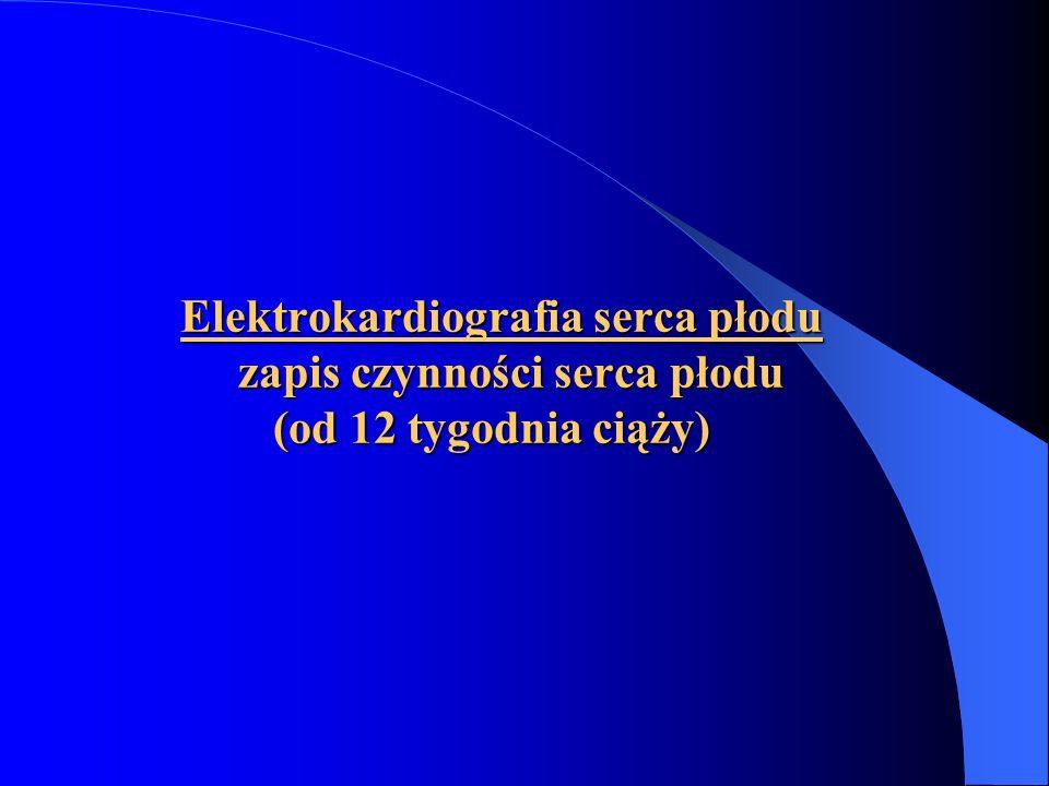 Elektrokardiografia serca płodu zapis czynności serca płodu (od 12 tygodnia ciąży) Elektrokardiografia serca płodu zapis czynności serca płodu (od 12