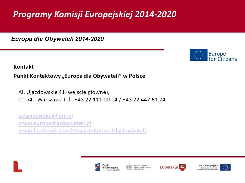 """Kontakt Punkt Kontaktowy """"Europa dla Obywateli w Polsce Al."""