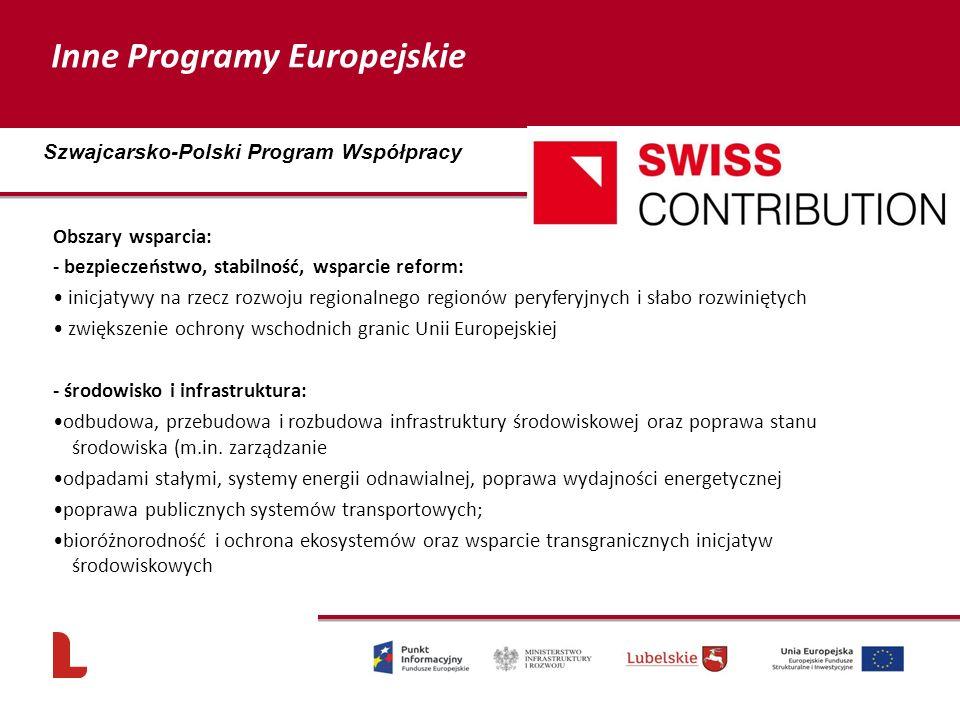Obszary wsparcia: - bezpieczeństwo, stabilność, wsparcie reform: inicjatywy na rzecz rozwoju regionalnego regionów peryferyjnych i słabo rozwiniętych zwiększenie ochrony wschodnich granic Unii Europejskiej - środowisko i infrastruktura: odbudowa, przebudowa i rozbudowa infrastruktury środowiskowej oraz poprawa stanu środowiska (m.in.