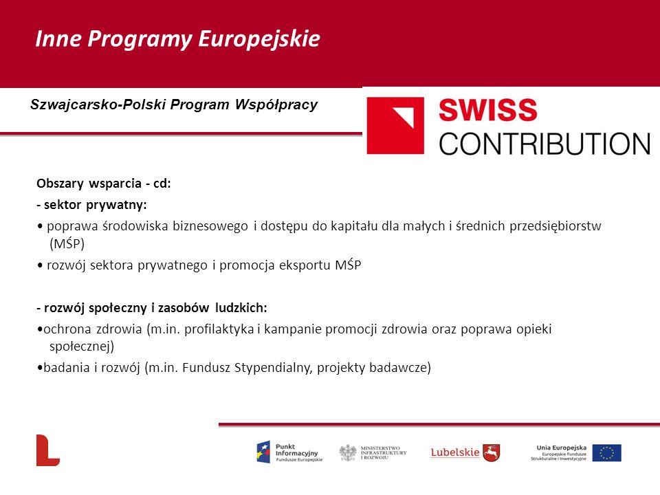 Obszary wsparcia - cd: - sektor prywatny: poprawa środowiska biznesowego i dostępu do kapitału dla małych i średnich przedsiębiorstw (MŚP) rozwój sekt