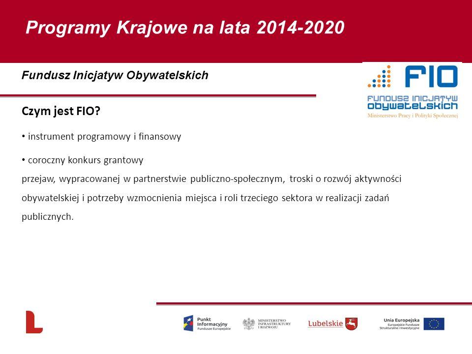 Czym jest FIO? instrument programowy i finansowy coroczny konkurs grantowy przejaw, wypracowanej w partnerstwie publiczno-społecznym, troski o rozwój
