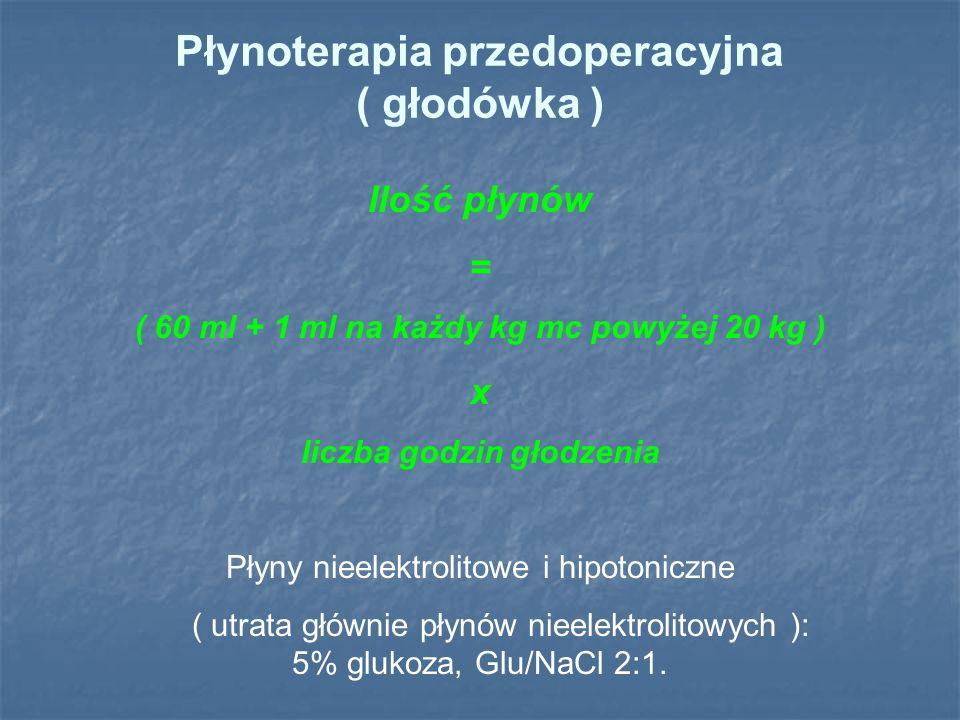 Hiperkaliemia K > 4,5 mmol/l pseudohyperkaliemia: hemoliza, leukocytoza, trombocytoza  pH o 0,1   K o 0,2-1,7 mEq/l  K w niewydolności nerek tylko przy oligurii i anurii ekg:  T,  P, szerokie QRS (nasilenie zmian koreluje z poziomem hiperkaliemii) Leczenie: 1.