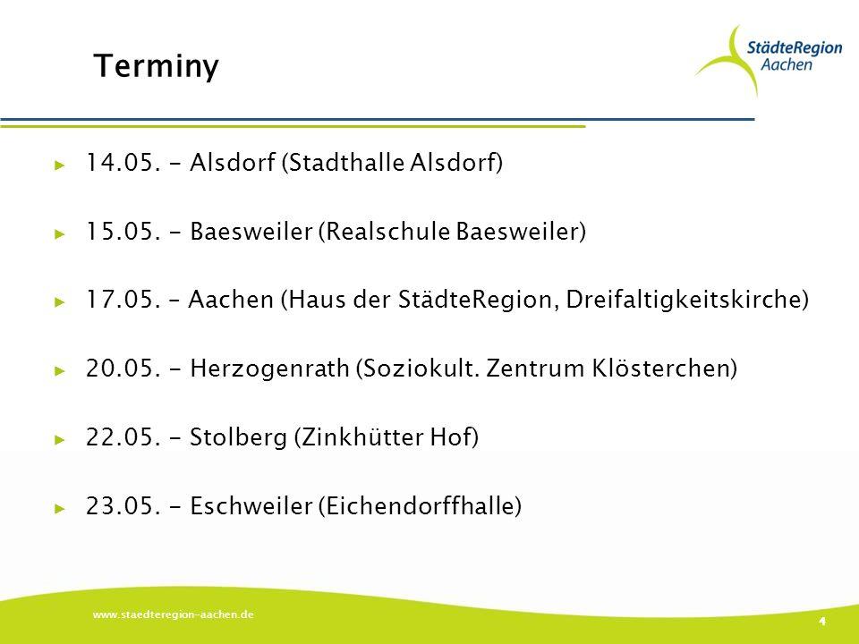 Terminy ▶ 14.05. - Alsdorf (Stadthalle Alsdorf) ▶ 15.05.