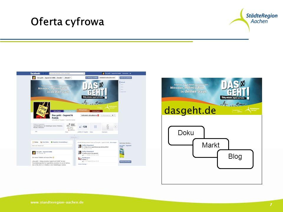Oferta cyfrowa www.staedteregion-aachen.de 7 Doku Markt Blog dasgeht.de