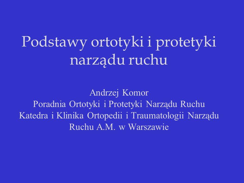 Atlas Ortotyki wyróżnia trzy anatomiczne klasy ortez: 1.